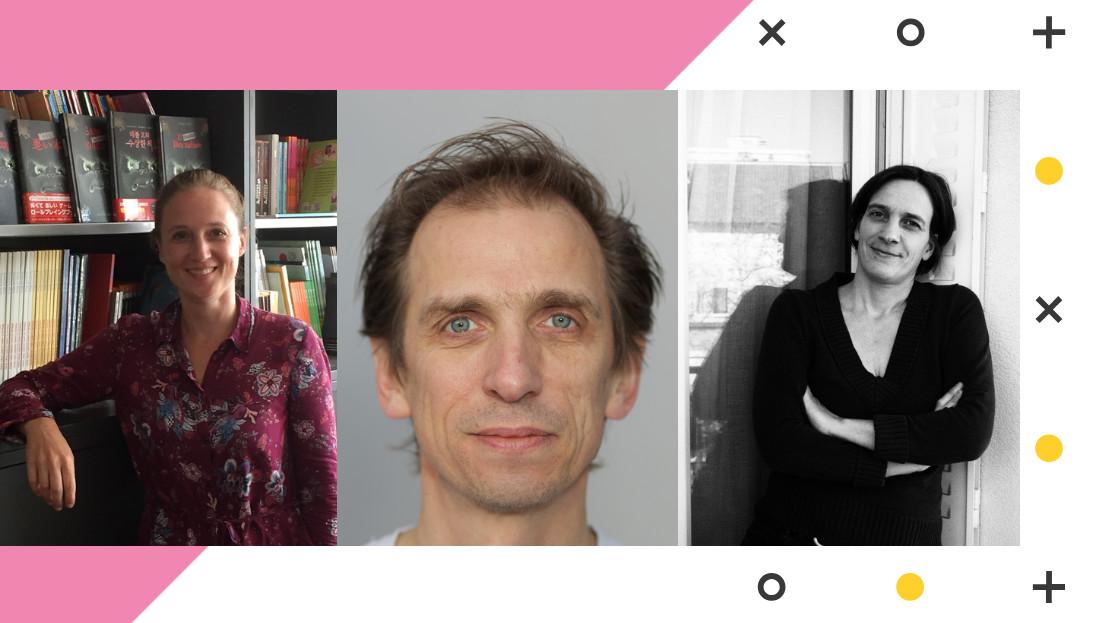 Portraits von Julia Balogh, Henry Steinhau und Barbara Peveling