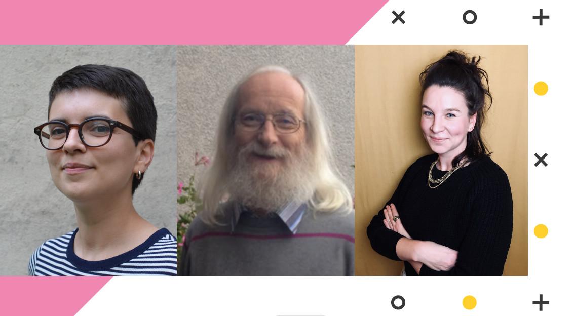 Portraits von Giulia Silvestri, Werner Rätz und Anne Löhr