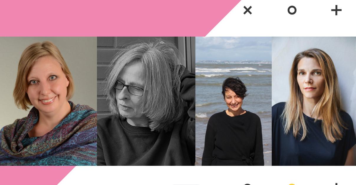 Potraits von Anja Schreiber, Lena Tietgen, Cécile Calla und Laurence Barbasetti